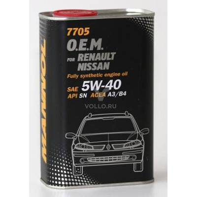 MANNOL 7705 O.E.M. 5W-40 for Renault Nissan 1L metal