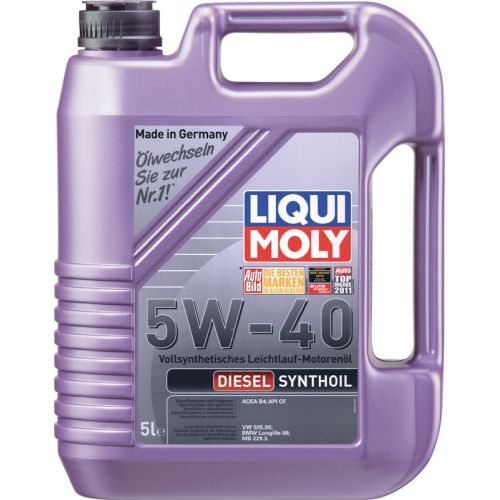 LIQUI MOLY Diesel Synthoil 5w40 5 л. (4шт) масло моторное, синтетика диз. 1927/1341