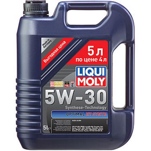 LIQUI MOLY Optimal HT Synth 5w-30 A3/B4 5 л. (4шт) масло моторное, HC-синт. 39010