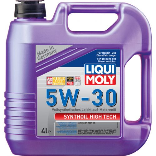 LIQUI MOLY Synthoil High Tech 5w30 SM/CF A3/B4 масло моторное 4 л. (4шт) 9076